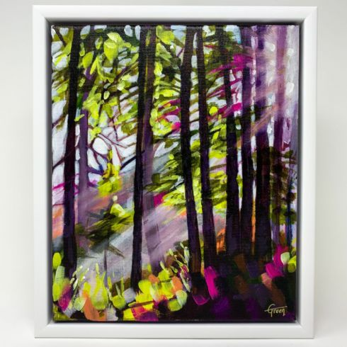 in klöver | ni design - Lynsay Green - 'Forest Light II' Original Acrylic on Canvas